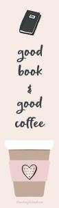 Freebie Friday Book & Coffee bookmark